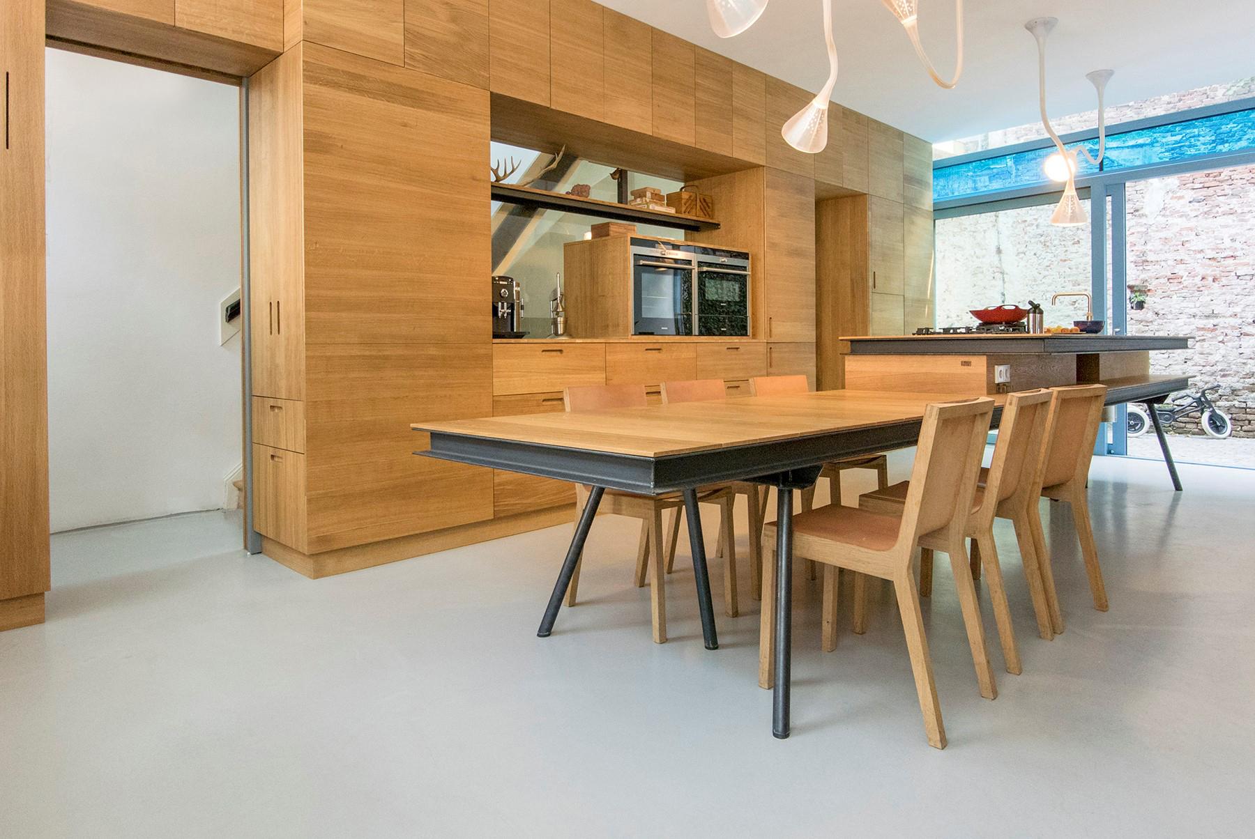 Keuken woonhuis Utrecht ontwerp Wielen Architecten